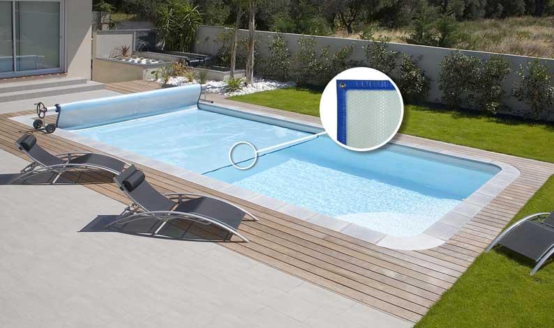 Bâche solaire sol + guard pour piscine - Mediester
